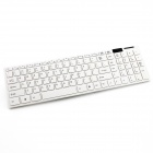 YDL-G-06 Mini Ultra-Thin USB 2.4G Wireless Keyboard +1600DPI Mouse Set - White (3 x AAA)