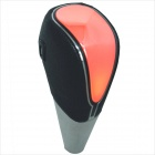 Carking PU cubierta de cuero Touch Knob Activado Shift Red Light LED - Negro + Plata