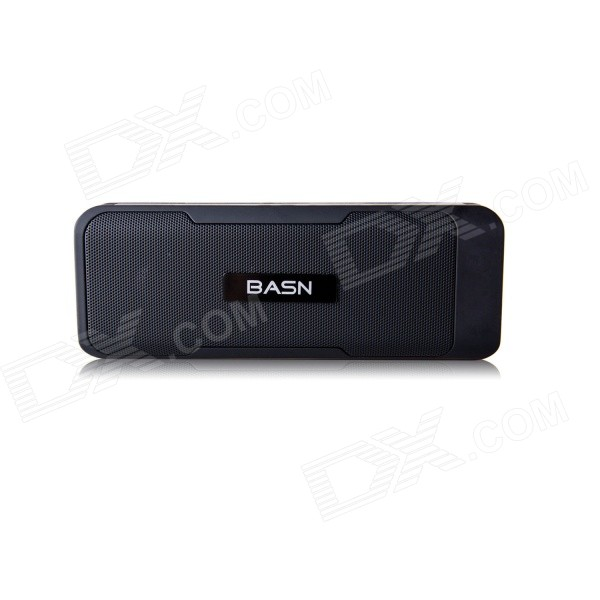 BASN S101 Portable Mini Bluetooth V3.0 Speaker w/ 4400mAh Power Bank / TF / FM - Black basn s101 portable mini bluetooth v3 0 speaker w 4400mah power bank tf fm white black