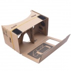 "NEJE SZ0048-4 DIY Google Cardboard Virtual Reality 3D Glasses w/ NFC for 4~4.5"" Cellphones - Brown"