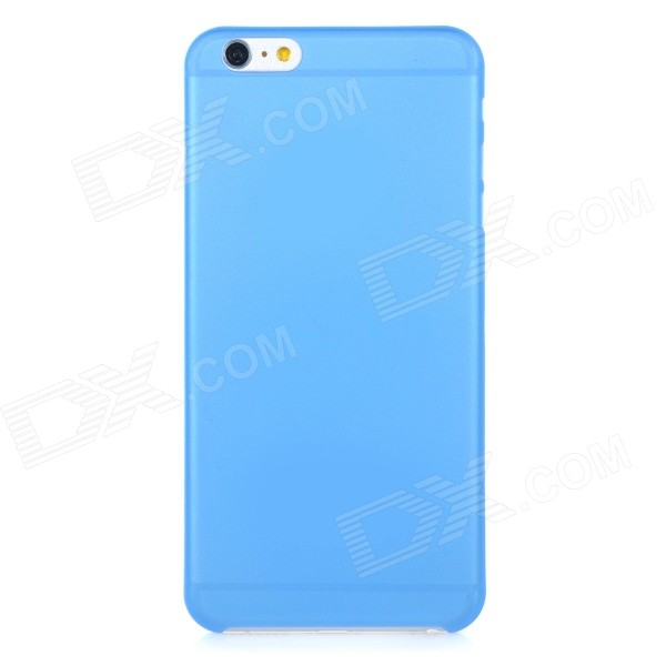 0.3mm Ultra Thin Matte Frosted Protective PP Back Case for IPHONE 6 PLUS - Blue + Translucent