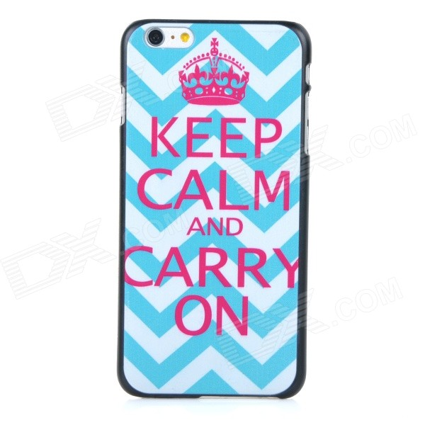 Protective Patterned Plastic Back Case Cover for IPHONE 6 PLUS - White + Blue + Deep Pink tpu imd patterned gel cover for iphone 7 4 7 inch dream catcher