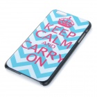 Protective Patterned Plastic Back Case Cover for IPHONE 6 PLUS - White + Blue + Deep Pink