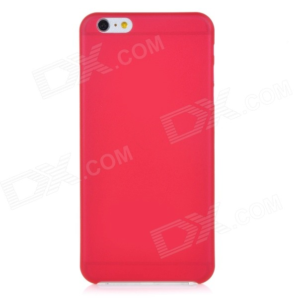 0.3mm Ultra Thin Matte Frosted Protective PP Back Case for IPHONE 6 PLUS - Red + Translucent solid color glossy tpu jelly case for iphone 7 plus 5 5 inch black