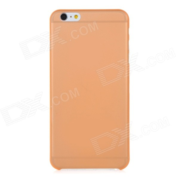 0.3mm Ultra Thin Matte Frosted Protective PP Back Case for IPHONE 6 PLUS - Orange + Translucent