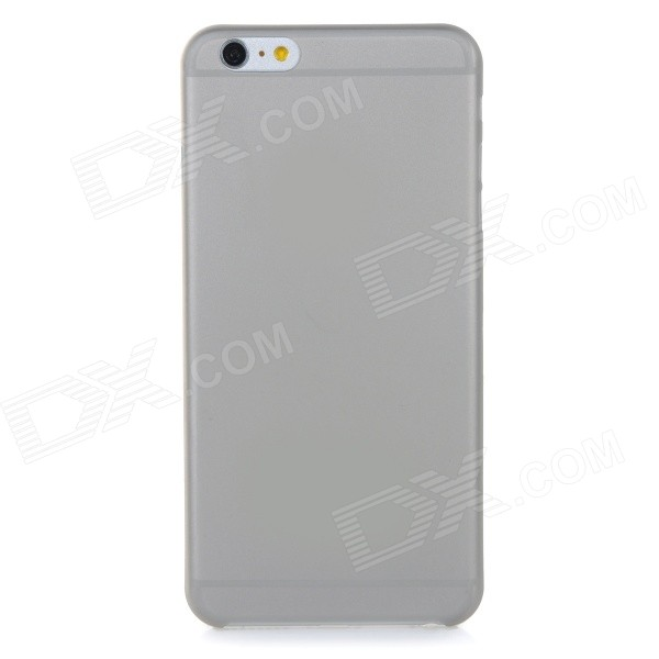 0.3mm Ultra Thin Matte Frosted Protective PP Back Case for IPHONE 6 PLUS - Grey + Translucent xincuco thin pp hard phone case for iphone 7 4 7 orange