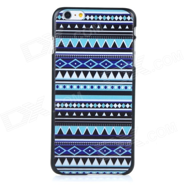 Protective Patterned Plastic Back Case Cover for IPHONE 6 PLUS - Black + Blue + White 3d dragon patterned protective pc pvt back case cover for iphone 6 plus 5 5 black blue