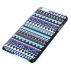 Protective Patterned Plastic Back Case Cover for IPHONE 6 PLUS - Black + Blue + White