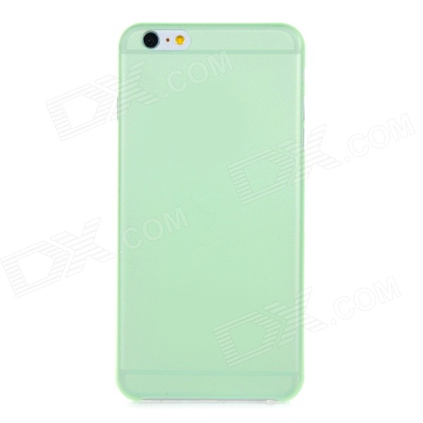0.3mm Ultra Thin Matte Frosted Protective PP Back Case for IPHONE 6 PLUS - Green + Translucent xincuco thin pp hard phone case for iphone 7 4 7 orange