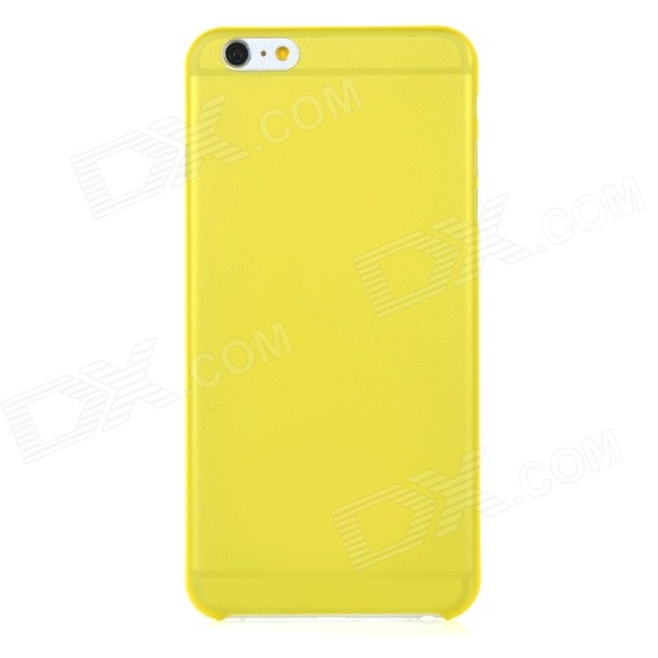 0.3mm Ultra Thin Matte Frosted Protective PP Back Case for IPHONE 6 PLUS - Yellow + Translucent