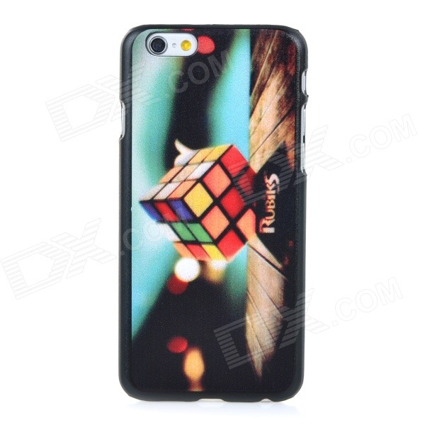 Rubik's Cube Pattern Protective PC Back Case Cover for IPHONE 6 - Black + Multi-colored смартфон motorola moto c золотистый 5 16 гб lte wi fi gps 3g xt1754