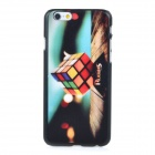 Rubik's Cube Pattern Protective PC Back Case Cover for IPHONE 6 - Black + Multi-colored