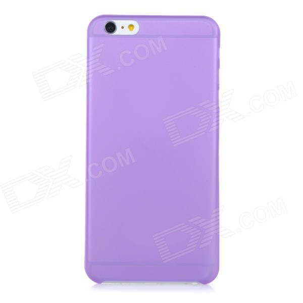0.3mm Ultra Thin Matte Frosted Protective PP Back Case for IPHONE 6 PLUS - Purple + Translucent xincuco thin pp hard phone case for iphone 7 4 7 orange