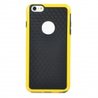 "Protective Silicone + PC Back Case Cover for IPHONE 6 PLUS 5.5"" - Black + Yellow"