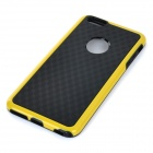 Protective Silicone + PC Back Case for IPHONE 6 PLUS - Black + Yellow