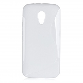 Protective Soft TPU Back Case Cover for Motorola MOTO G2 - White