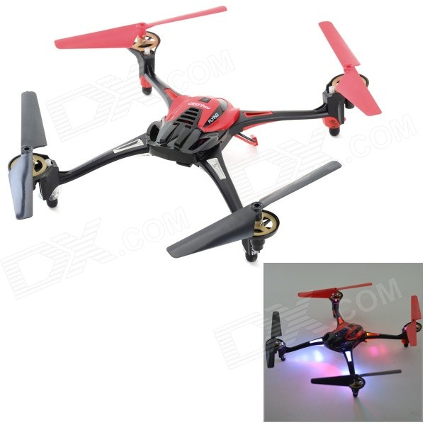 HuaXiang 2.4GHz 4-CH 6-Axis R/C Quadcopter w/ Gyroscope / Lamp - Red + Black (4 x AAA)