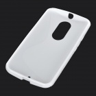 Protective Soft TPU Back Case Cover for Motorola MOTO X+1 - White