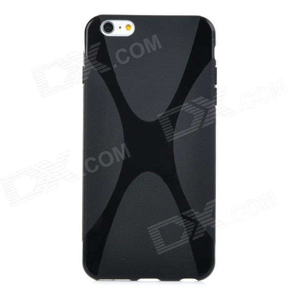 X Style Protective TPU Back Case Cover for IPHONE 6 PLUS - Black iface mall for iphone 6 plus 6s plus glossy pc non slip tpu shell case black