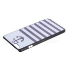 Stripes Pattern Protective Plastic Back Case Cover for IPHONE 6 PLUS - White + Blue + Black