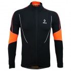 ARSUXEO AR130021 Men's Outdoor Running Cycling Long-sleeved Jersey Top - Black + Orange (XXL)