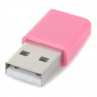USB-MK1 Mini Micro USB Female to USB Male Data Charging Adapter - Pink + Silver