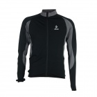 ARSUXEO AR130022 Men's Long-sleeved Warm Zipper Dacron + Lycra Cycling Jersey - Black + Grey (L)