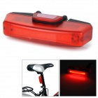 RAYPAL RPL-2263 100lm 6-Mode Rechargeable Red Light LED Tail Lamp for Bike - Black + Red