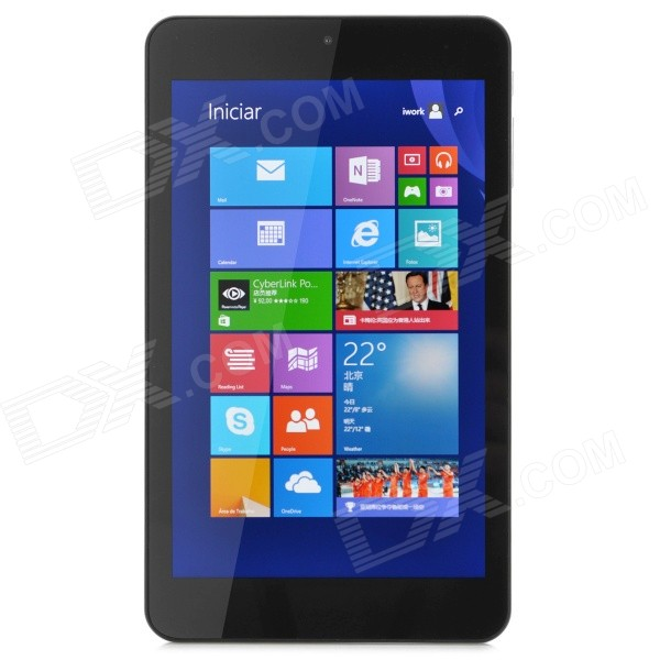 "Cube Iwork7 7 ""IPS Windows 8.1 Quad-Core Tablet PC met 1 GB RAM, 16 GB, Dual Cam, Bluetooth - Wit"