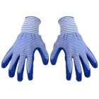 Handy Labor Buna-n Rubber Gloves - Blue + White (Pair)