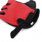 NUCKILY PC03 Outdoor Cycling Lycra Half-Finger Gloves - Red (L / Pair)