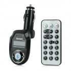 "BT-303 1.0"" LCD Bluetooth V2.1 Handsfree FM Modulator Car MP3 Player w/ SD / TF / USB 2.0 - Black"