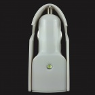 Z08 2-in-1 Dual USB Output Car Charger w/ Phone Holder + LED for Digital Device - White