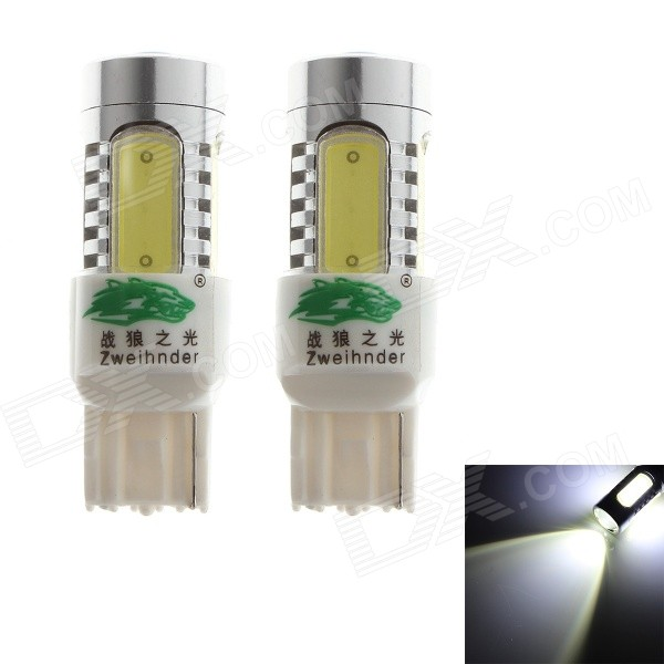 Zweihnder 7440 20W 1900LM 6000-6500K 6 x LED White Light Fog Lamp Bulb for Car (12-24V,2PCS)