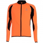 ARSUXEO AR130021 Men's Outdoor Running Cycling Long-Sleeved Jersey - Black + Orange (XL)
