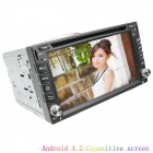 "LsqSTAR Universal 6.2"" Capacitive Screen Android4.2 Car DVD Player w/ GPS IPOD SWC WiFi AUX FM"