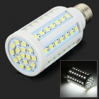 GY-72 E27 10W 1000lm 6000K 72-SMD 5050 LED White Light Corn Lamp - White + Silver (AC 220~240V)