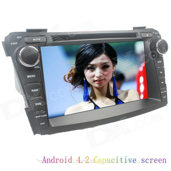 цена на LsqSTAR 7 Capacitive Screen Android 4.2 Car DVD Player w/ GPS BT SWC WiFi AUX FM for Hyundai I40