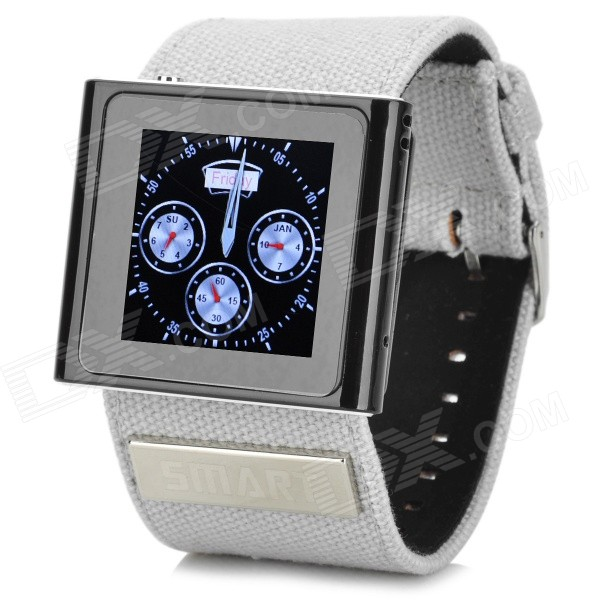 CP100 1.54 Screen Clip-On GSM Watch Phone w/ Canvas Band, Bluetooth, Pedometer - Black + Silver встраиваемый светильник donolux n1526 rab