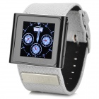 "CP100 1,54 ""Screen Clip-On GSM Watch Phone w / Canvas Band, Bluetooth, Schrittzähler - Schwarz + Silber"