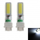 Zweihnder 3157 24W 2300lm 4 x COB LED White Light Car Backup Light - (12~24V / 2 PCS)