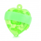 Heart-shaped 0.5W LED Red + Green + Blue + White Finger Lights - White + Red (4 PCS / 3 x LR41)