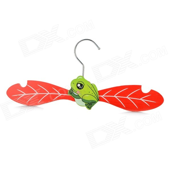 KT-01 Water-resistant Cartoon Wooden Clothes Rack Hanger for Pet Cat / Dog - Red + Green