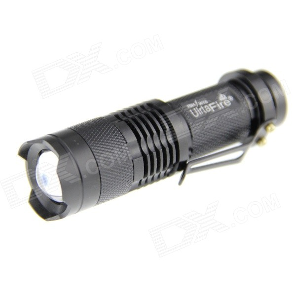 UltraFire SK68 LED 350lm 1-Mode Cool White Zoomable Flashlight Set - Black (1 x 14500)