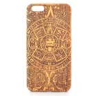 Aztec Calendar Stone Style Detachable Protective Wood Back Case for IPHONE 6 PLUS - Brown