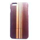 Sapele with Maple Pattern Detachable Wood Back Case for IPHONE 6 Plus - Brown