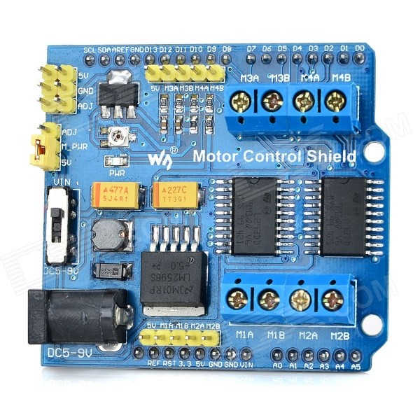 Wareshare L293D Motor Drive Control Shield Board - Blue + Black (5V)