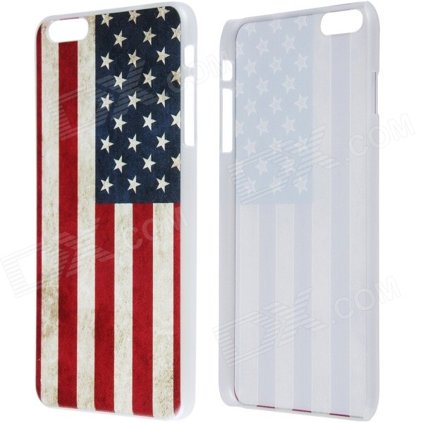 Retro Relief Style American Flag Pattern Protective PC Back Case for IPHONE 6 Plus 5.5 - Red + Blue 10pcs m6 16mm m6 16mm 316 ss stainless steel mushroom head sttp screw self tapping screw truss phil screws
