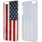 "Retro Relief Style American Flag Pattern Protective PC Back Case for IPHONE 6 Plus 5.5"" - Red + Blue"
