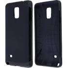 Slim Armor Style Protective PC + Silicone Back Case for Samsung Galaxy Note 4 - Black